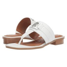 カルバンクライン Calvin Klein レディース シューズ・靴 ビーチサンダル【Farley】White Soft Nappa Shine