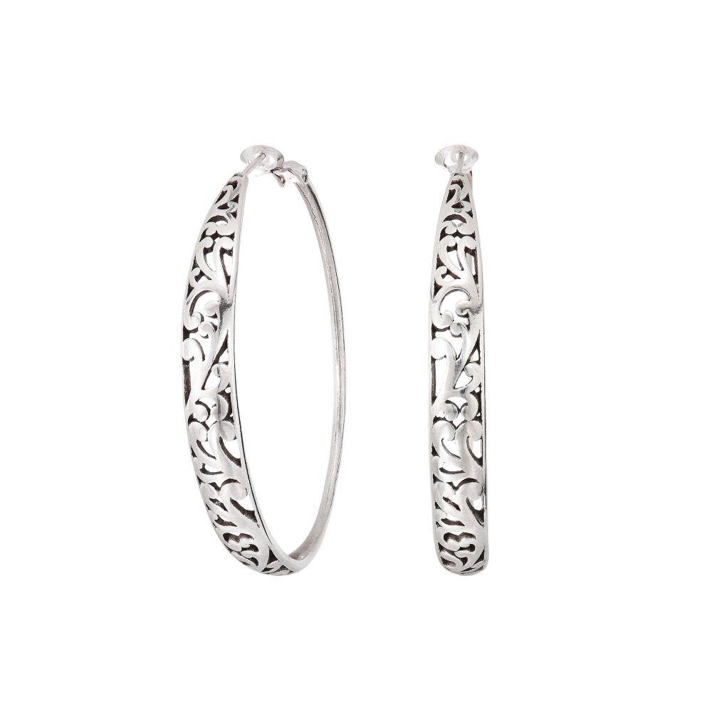 ブライトン Brighton レディース ジュエリー・アクセサリー イヤリング・ピアス【Elora Leverback Hoop Earrings】Silver