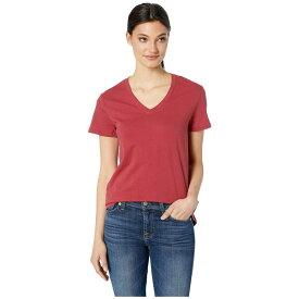 ハーレー Hurley レディース トップス Tシャツ【Solid Perfect V-Neck Tee Shirt】Team Crimson