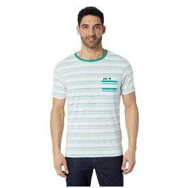 ヘリーハンセン Helly Hansen メンズ トップス Tシャツ【Fjord T-Shirt】Pepper Green Faded Stripes