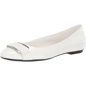 カルバンクライン Calvin Klein レディース シューズ・靴 スリッポン・フラット【Oneta】White Nappa/Pebble Grain