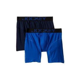 ジョッキー Jockey メンズ インナー・下着 ボクサーパンツ【Athletic Rapidcool Boxer Brief 2-Pack】Vibrant Blue/True Navy