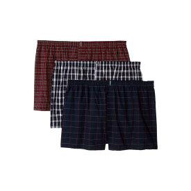 ジョッキー Jockey メンズ インナー・下着 ボクサーパンツ【Classic Wovens Full Cut Boxer 3-Pack】Navy Tartan/Navy Windowpane/Classic Red Tartan
