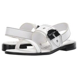 カルバンクライン Calvin Klein レディース シューズ・靴 サンダル・ミュール【Telisha】White Cow Silk