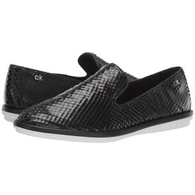 カルバンクライン Calvin Klein レディース シューズ・靴 スリッポン・フラット【Issa】Black Armatura Snake