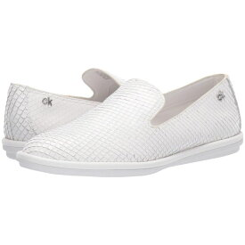 カルバンクライン Calvin Klein レディース シューズ・靴 スリッポン・フラット【Issa】White Armatura Snake