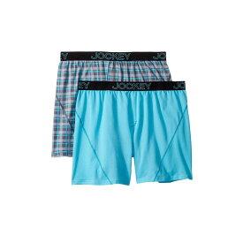 ジョッキー Jockey メンズ インナー・下着 ボクサーパンツ【No Bunch Boxer 2-Pack】Rainy Day Plaid/Blue Uranos