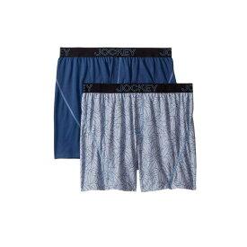 ジョッキー Jockey メンズ インナー・下着 ボクサーパンツ【No Bunch Boxer 2-Pack】Outlined Tropics/Blue Tranquil