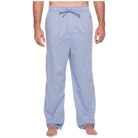 ノーティカ Nautica Big & Tall メンズ インナー・下着 パジャマ・ボトムのみ【Big & Tall Herringbone Plaid Sleep Pants】Blue Bone