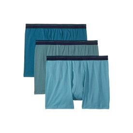 ジョッキー Jockey メンズ インナー・下着 ボクサーパンツ【Breathable Mesh Cotton Classic Boxer Brief 3-Pack】Pond Green/Antique Azure/Dusty Skies