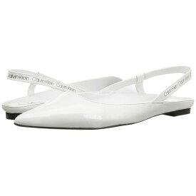 カルバンクライン Calvin Klein レディース シューズ・靴 スリッポン・フラット【Maya】White Crinkle Patent