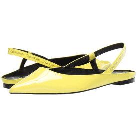 カルバンクライン Calvin Klein レディース シューズ・靴 スリッポン・フラット【Maya】Yellow Flou Crinkle Patent