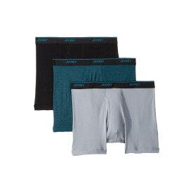 ジョッキー Jockey メンズ インナー・下着 ボクサーパンツ【Tailored Essentials Staycool+ Boxer Brief 3-Pack】Black/End on End/Silver Line Blue