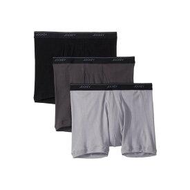 ジョッキー Jockey メンズ インナー・下着 ボクサーパンツ【Tailored Essentials Staycool+ Boxer Brief 3-Pack】Black/Trusted Pewter/Mid Grey