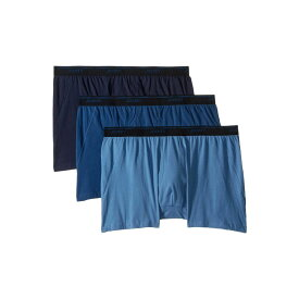 ジョッキー Jockey メンズ インナー・下着 ボクサーパンツ【Tailored Essentials Maxstretch(TM) Boxer Brief 3-Pack】True Navy/Blue Tranquil/Blue Wash