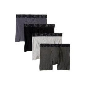 ジョッキー Jockey メンズ インナー・下着 ボクサーパンツ【Active Blend Boxer Brief 4-Pack】Quartz Grey/Trusted Pewter/Charcoal Heather/Black