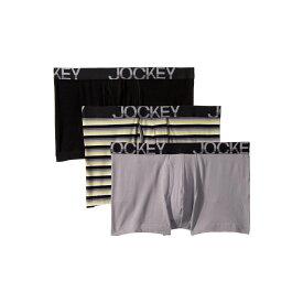 ジョッキー Jockey メンズ インナー・下着 ボクサーパンツ【Active Stretch(TM) Boxer Brief 3-Pack】Grey Sunset Stripe/Mid Grey/Black