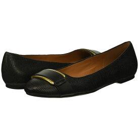 カルバンクライン Calvin Klein レディース シューズ・靴 スリッポン・フラット【Oneta】Black Shiny Lizard/Cow Silk