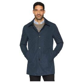 コールハーン Cole Haan メンズ レインコート アウター【City Rain Button Front Carcoat with Detachable Liner】Navy