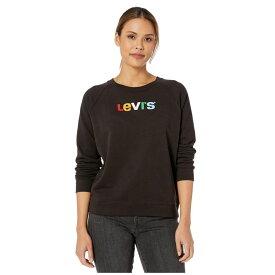 リーバイス Levi's Womens レディース Tシャツ トップス【Relaxed Graphic Crew】Levi's Text Crew Meteorite