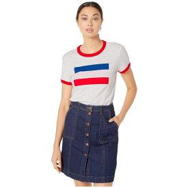 リーバイス Levi's Womens レディース Tシャツ トップス【Perfect Ringer Tee】Sportswear Ringer White/Brilliant Red
