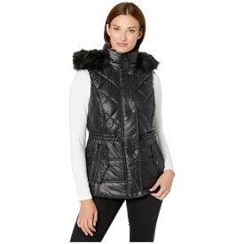 マイケル コース MICHAEL Michael Kors レディース パーカー トップス【Active Vest with Faux Fur Trim Hood A421030TZ】Black