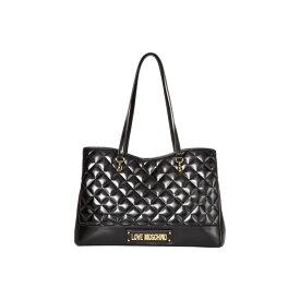 モスキーノ LOVE Moschino レディース トートバッグ バッグ【Shinny Quilted Bag】Black