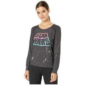チェイサー Chaser レディース ニット・セーター ラグラン トップス【Neon Star Wars' Cozy Knit Long Sleeve Raglan】Black