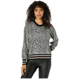 スプレンディッド Splendid レディース ニット・セーター トップス【Leopard Reversible Pullover Sweater】Black/Light Heather Grey/Burgundy Stripe