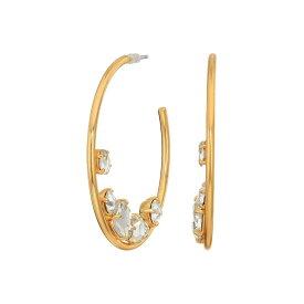 ジェイクルー J.Crew レディース イヤリング・ピアス ジュエリー・アクセサリー【Crystal Cluster in Hoop Earrings】Crystal