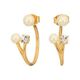 ジェイクルー J.Crew レディース イヤリング・ピアス ジュエリー・アクセサリー【Pearl and Crystal Jacket Earrings】Pearl