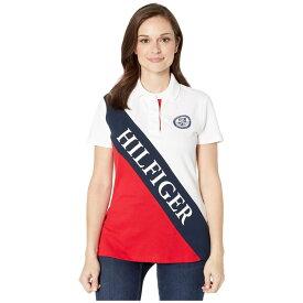 トミー ヒルフィガー Tommy Hilfiger Adaptive レディース ポロシャツ トップス【Polo Shirt with Magnetic Buttons】Bright White/Tango Red/Core Navy