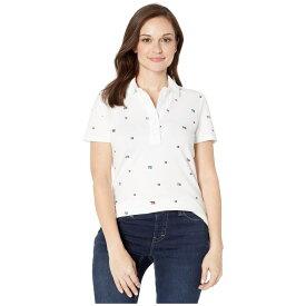 トミー ヒルフィガー Tommy Hilfiger Adaptive レディース ポロシャツ トップス【Polo Shirt with Magnetic Buttons】Bright White/Multi