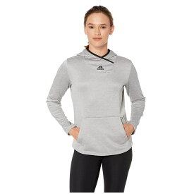 アディダス adidas レディース パーカー トップス【Team Issue Pullover Hoodie】Medium Solid Grey/Heather