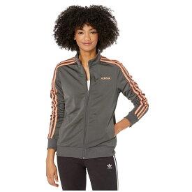 アディダス adidas レディース ジャケット アウター【Essential 3-Stripes Tricot Jacket】Dark Grey Heather/Semi Coral