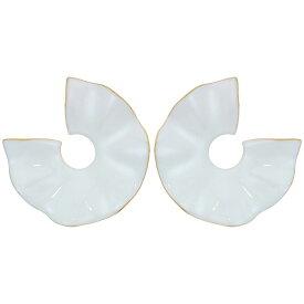 ジェイクルー J.Crew レディース イヤリング・ピアス ジュエリー・アクセサリー【Vera Matte Enamel Wave Earrings】White