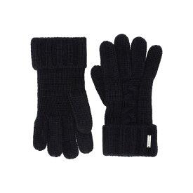 マイケル コース MICHAEL Michael Kors メンズ 手袋・グローブ 【striped patchwork cable gloves】Midnight