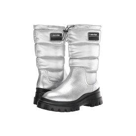 カルバンクライン Calvin Klein レディース ブーツ シューズ・靴【laeton】Silver Nylon Metal/Crinkle