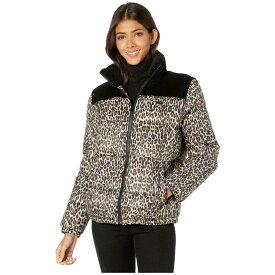 リーバイス Levi's レディース ダウン・中綿ジャケット アウター【mixed media printed puffer jacket】Black/Leopard