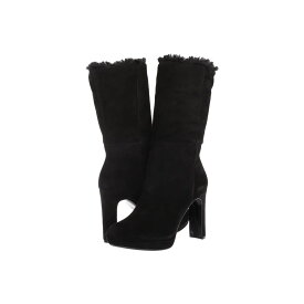 カルバンクライン Calvin Klein レディース ブーツ シューズ・靴【pebbles】Black Leather Suede/Shearing