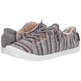 ロキシー Roxy レディース スニーカー シューズ・靴【bayshore faux-fur lined shoes】Grey/Purple