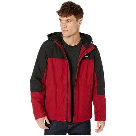 リーバイス Levi's メンズ レインコート シェルジャケット アウター【rain shell jacket w/ fleece lining】Red/Black