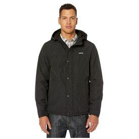 リーバイス Levi's メンズ レインコート シェルジャケット アウター【rain shell jacket w/ fleece lining】Black/Black
