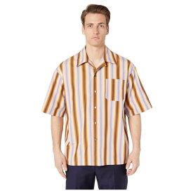 マルニ MARNI メンズ 半袖シャツ トップス【degrade stripe short sleeve shirt】Lilac/Brown
