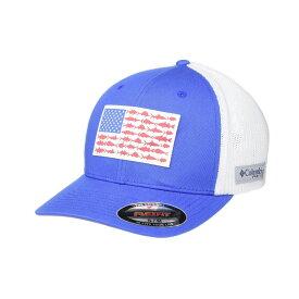 コロンビア Columbia レディース キャップ 帽子【PFG Mesh(TM) Fish Flag Ball Cap】Vivid Blue/White/Sunset Red