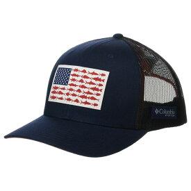 コロンビア Columbia レディース キャップ スナップバック 帽子【PFG Mesh(TM) Snapback Fish Flag Ball Cap】Collegiate Navy/Sunset Red