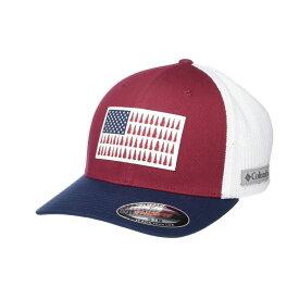 コロンビア Columbia レディース キャップ 帽子【Mesh(TM) Tree Flag Ball Cap】Red Jasper/White/Collegiate Navy