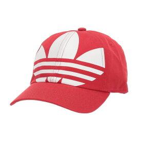 アディダス adidas Originals メンズ キャップ 帽子【Originals Big Trefoil Relaxed Adjustable Strapback Cap】Lush Red/White