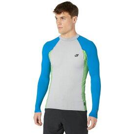 オニール O'Neill メンズ ラッシュガード 水着・ビーチウェア【Premium Long Sleeve Rashguard】Cool Grey/Dayglo/Ocean