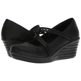 スケッチャーズ SKECHERS レディース ローファー・オックスフォード シューズ・靴【Rumbler Wave Filigree】Black